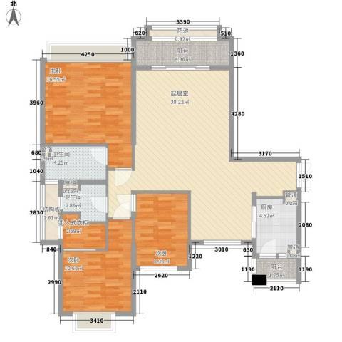 锦绣银湾别墅3室0厅2卫1厨141.00㎡户型图
