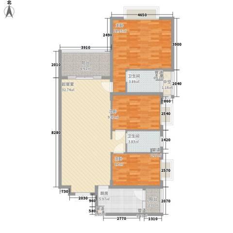 锦绣银湾别墅3室0厅2卫1厨132.00㎡户型图