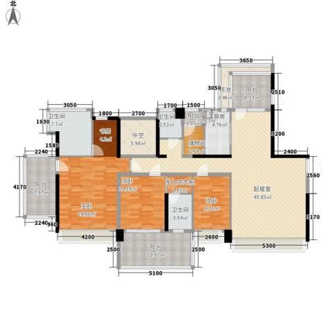 溪山别墅3室0厅3卫1厨213.00㎡户型图