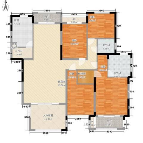 生活艺术城(art国际)4室0厅2卫1厨200.00㎡户型图