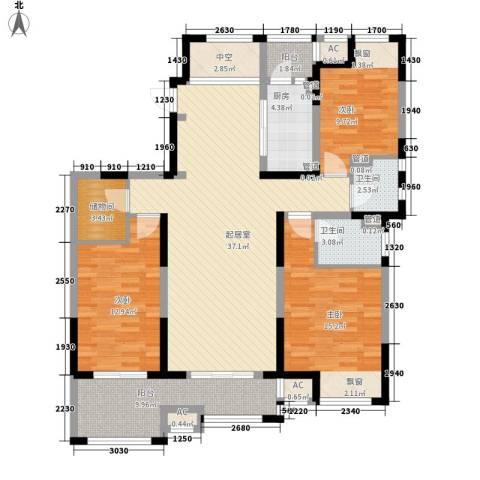 江城国际3室0厅2卫1厨149.00㎡户型图