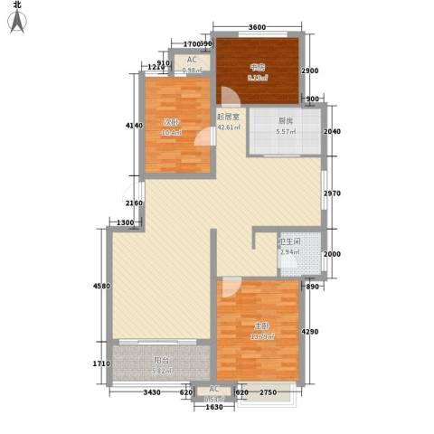 东方名都3室0厅1卫1厨116.00㎡户型图