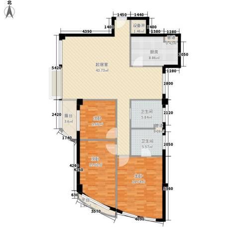 南明苑静和园3室0厅2卫1厨158.00㎡户型图