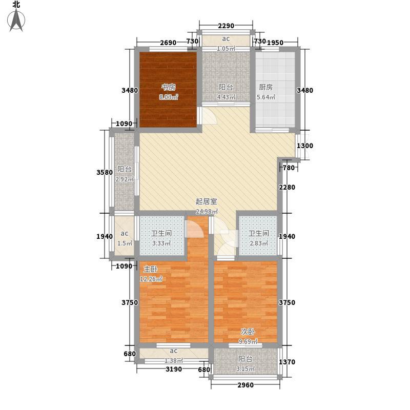 金色湖滨120.86㎡金色湖滨户型图8#楼A户型3室2厅2卫1厨户型3室2厅2卫1厨