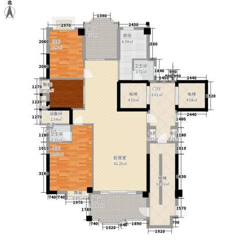 帝豪花园3室0厅2卫1厨204.00㎡户型图