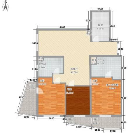 瑞苑公寓3室1厅2卫1厨179.00㎡户型图