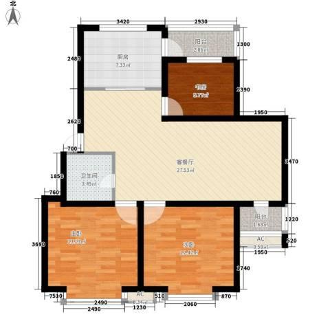 青阳四季园3室1厅1卫1厨109.00㎡户型图
