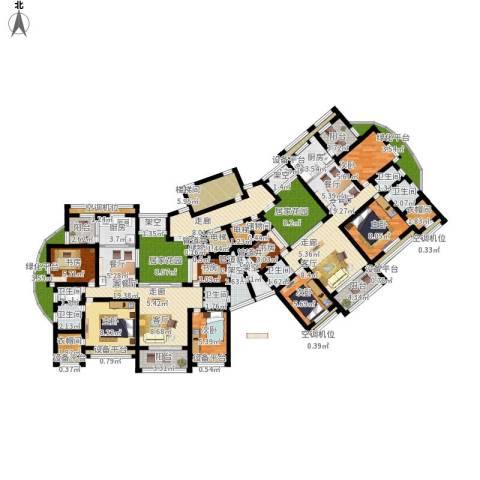 翠里8室2厅6卫2厨271.00㎡户型图