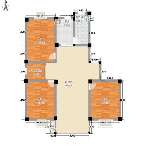 上林苑3室0厅1卫1厨104.20㎡户型图
