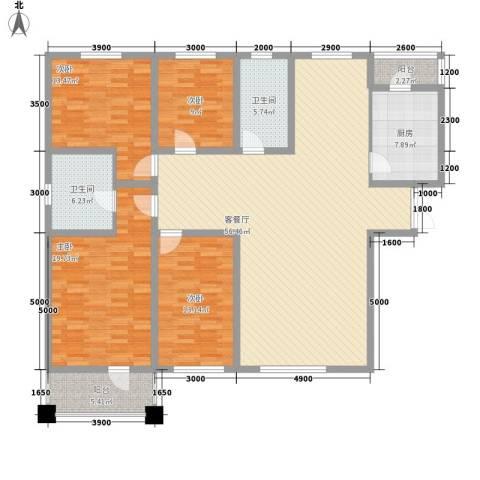 我的家园4室1厅2卫1厨188.00㎡户型图