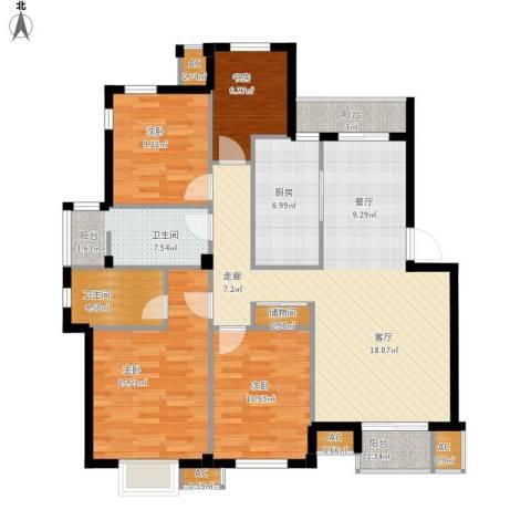 学府1+14室1厅2卫1厨147.00㎡户型图
