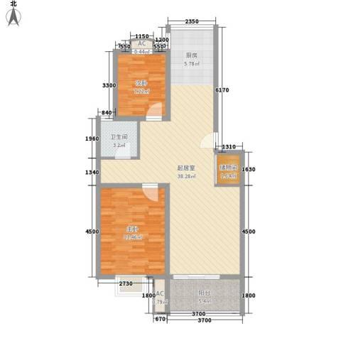 明华家园2室0厅1卫0厨101.00㎡户型图