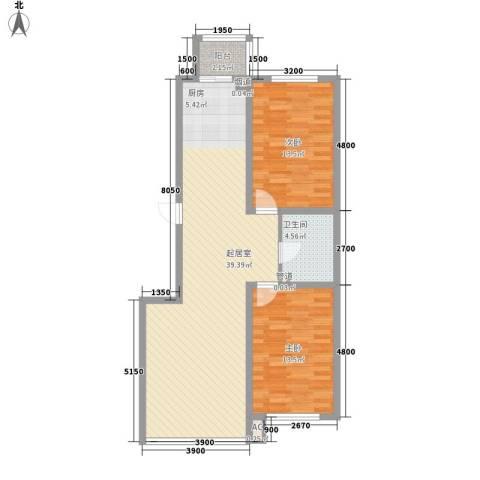 新城雅苑二期2室0厅1卫0厨101.00㎡户型图