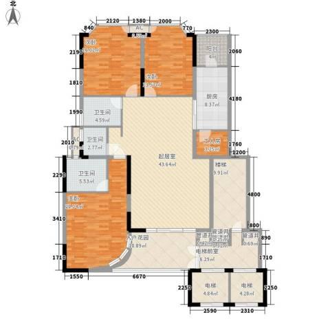 丽湖山庄3室0厅3卫1厨360.00㎡户型图