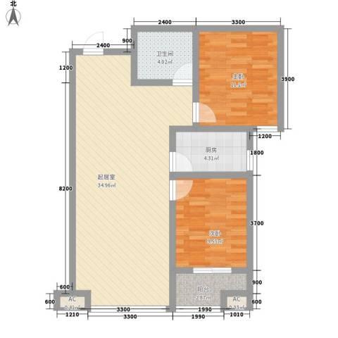 南华园小区2室0厅1卫1厨186.00㎡户型图