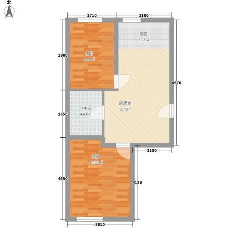 天胜电业小区2室0厅1卫0厨69.00㎡户型图