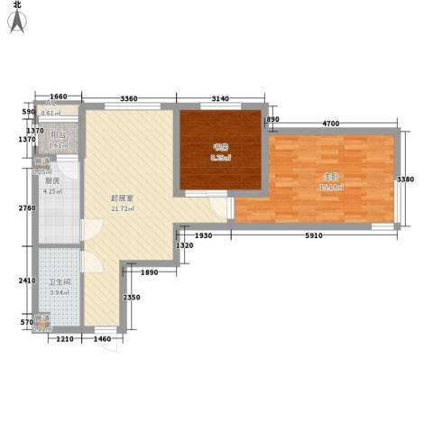 星光城2室0厅1卫1厨79.00㎡户型图