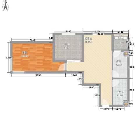 星光城1室0厅1卫1厨79.00㎡户型图