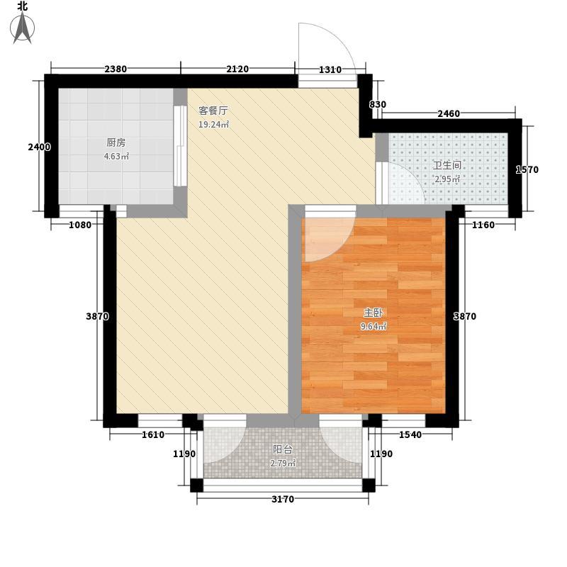 远洋风景62.17㎡远洋风景户型图A1户型1室2厅1卫1厨户型1室2厅1卫1厨