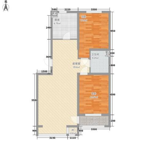 金色玺园2室0厅1卫1厨101.00㎡户型图
