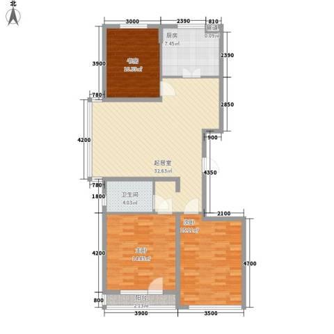 金色玺园3室0厅1卫1厨118.00㎡户型图