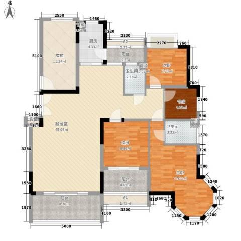联泰香域滨江桥郡4室0厅2卫1厨145.00㎡户型图