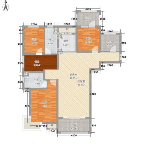 富立・秦皇半岛3室0厅2卫1厨162.00㎡户型图