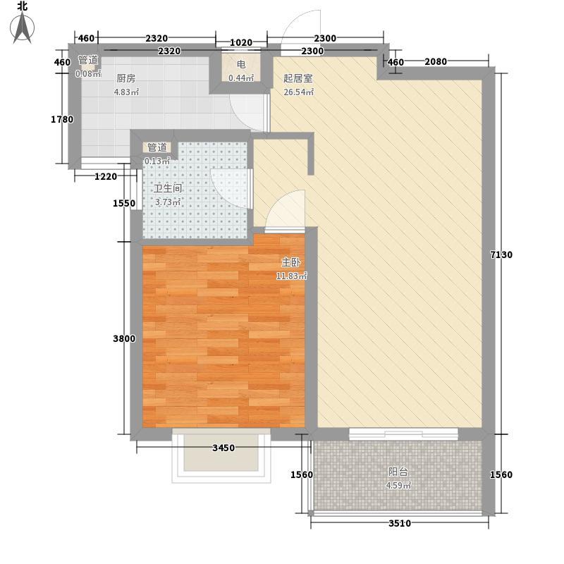 黄金年代76.66㎡黄金年代户型图3#02室户型1室2厅1卫1厨户型1室2厅1卫1厨