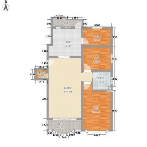 申达枫桥苑2室0厅1卫1厨130.00㎡户型图