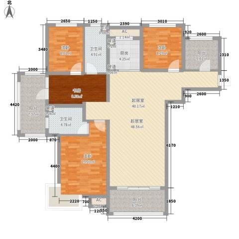 富立・秦皇半岛3室0厅2卫1厨135.00㎡户型图