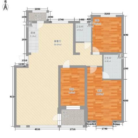 松原奥林匹克花园3室1厅2卫0厨145.00㎡户型图