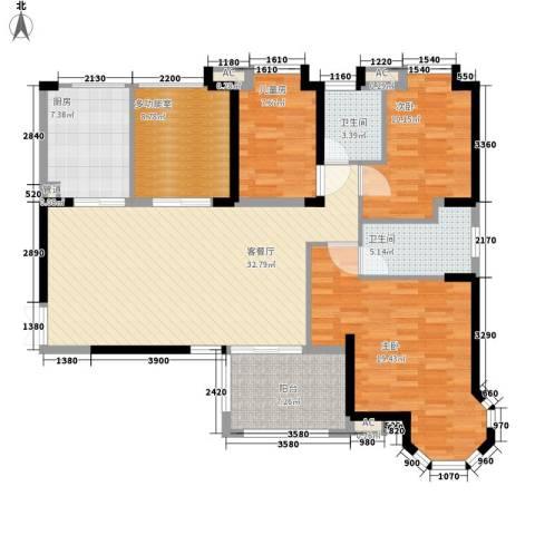 海门东恒盛国际公馆3室1厅2卫1厨146.00㎡户型图