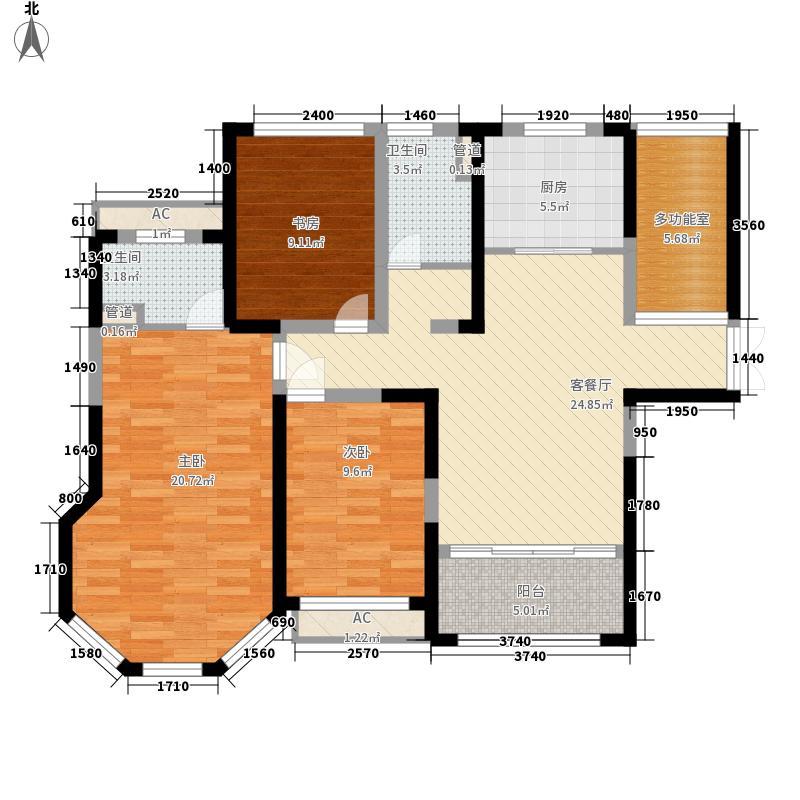 海门中南世纪城131.00㎡海门中南世纪城户型图98#楼A2户型3室2厅2卫1厨户型3室2厅2卫1厨