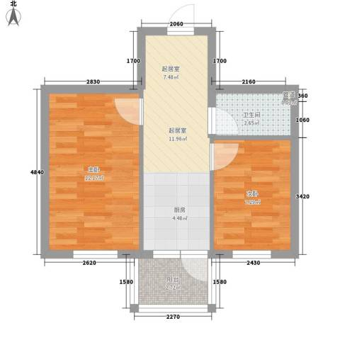 萧红书香苑2室0厅1卫0厨53.00㎡户型图