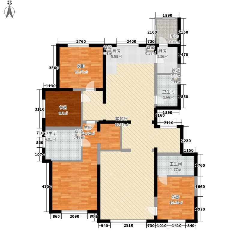 万科新梅江柏翠园193.00㎡一期4#、5#楼标准层户型