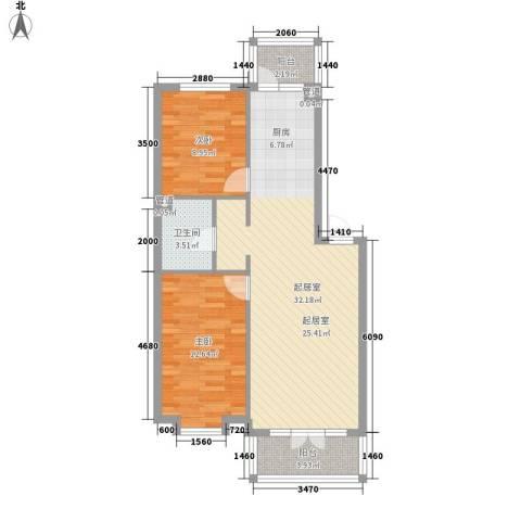 萧红书香苑2室0厅1卫0厨90.00㎡户型图