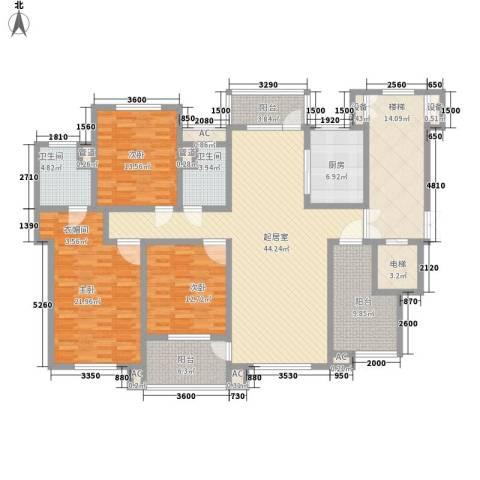 九岛梦都城3室0厅2卫1厨217.00㎡户型图