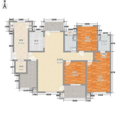 九岛梦都城3室0厅2卫1厨206.00㎡户型图