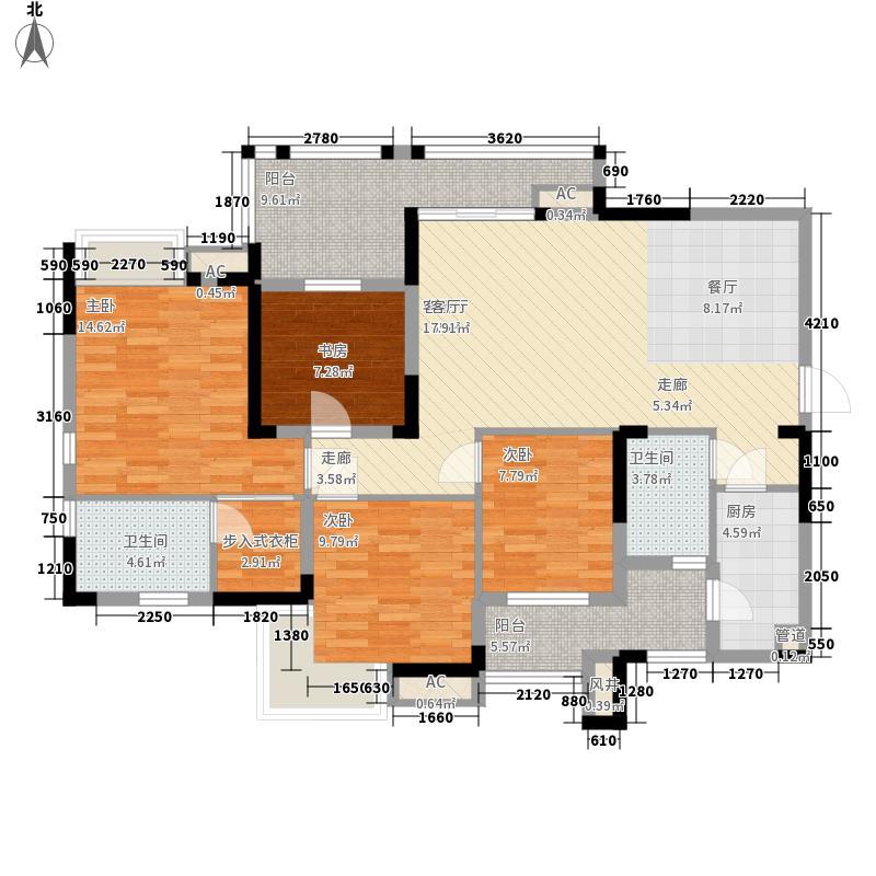 泽科港城国际106.00㎡一期9号楼标准层2/5号房户型