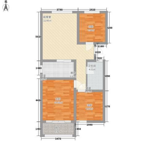 银都花园3室0厅1卫1厨97.00㎡户型图