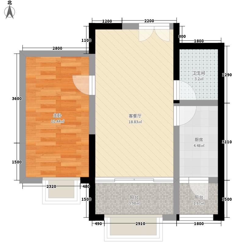 星苑小区一室两厅一卫户型1室2厅1卫1厨
