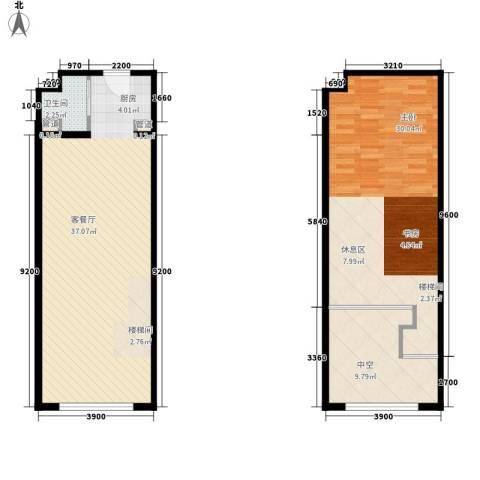 明翰国际1室1厅1卫0厨79.43㎡户型图