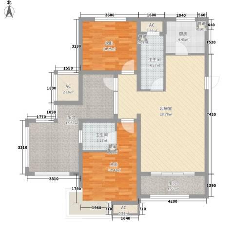 富立・秦皇半岛2室0厅2卫1厨117.00㎡户型图