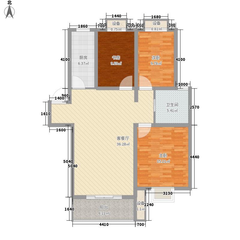 南徐山庄131.00㎡二期16#多层4层E户型3室2厅1卫1厨