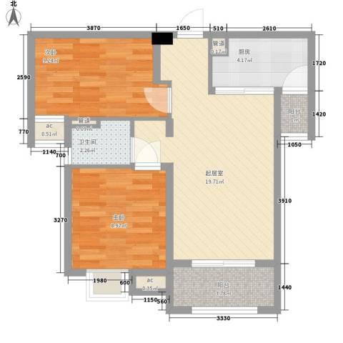 中海・寰宇天下2室0厅1卫1厨59.00㎡户型图