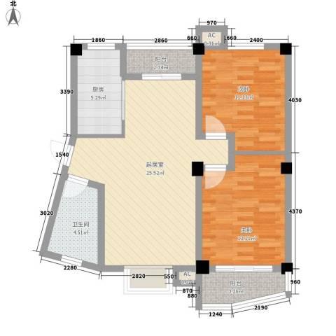 天赐良园别墅2室0厅1卫1厨95.00㎡户型图