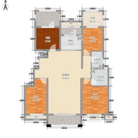 富立・秦皇半岛4室0厅2卫1厨138.00㎡户型图