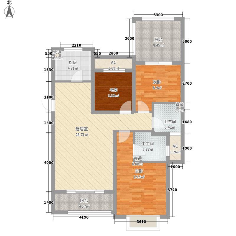 富立・秦皇半岛122.48㎡富立・秦皇半岛户型图c2-333室2厅2卫1厨户型3室2厅2卫1厨