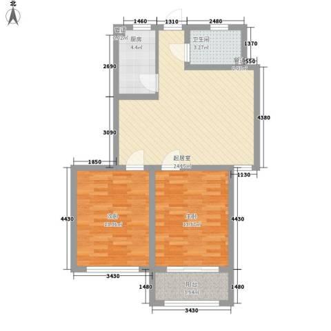 银都花园2室0厅1卫1厨89.00㎡户型图