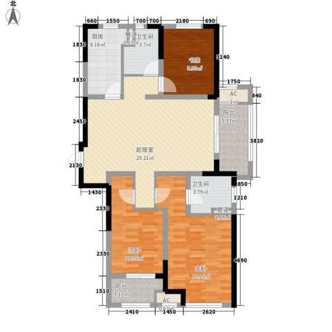 新城香悦半岛3室0厅2卫1厨131.00㎡户型图